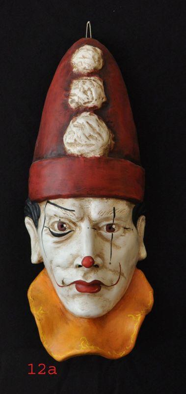 Maschera in Cartapesta dipinta a mano Cl
